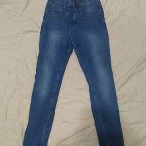 High waist blue skinny jeans cigarette/pinup sz 6